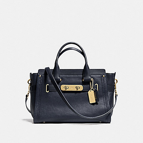COACH f34408 COACH SWAGGER NAVY/LIGHT GOLD