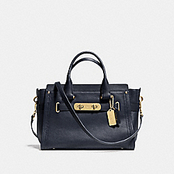 COACH SWAGGER - f34408 - NAVY/LIGHT GOLD