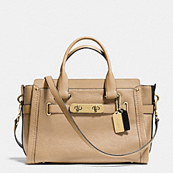 COACH F34420 - COACH SWAGGER CARRYALL IN COLORBLOCK LEATHER LIGHT GOLD/NUDE MULTI