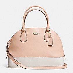 COACH F34491 - CORA DOMED SATCHEL IN BICOLOR CROSSGRAIN LEATHER  LIGHT GOLD/APRICOT/CHALK