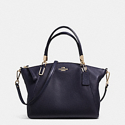 COACH F34493 Pebble Leather Small Kelsey Satchel LIGHT GOLD/MIDNIGHT