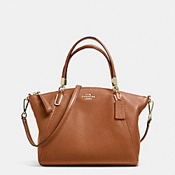 COACH F34493 Small Kelsey Satchel In Pebble Leather LIGHT GOLD/SADDLE F34493