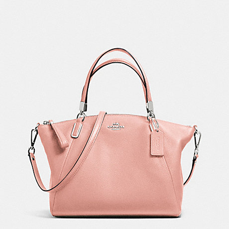 COACH f34493 SMALL KELSEY SATCHEL IN PEBBLE LEATHER SILVER/BLUSH