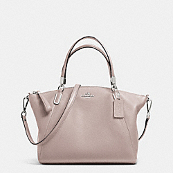 COACH F34493 - PEBBLE LEATHER SMALL KELSEY SATCHEL SILVER/GREY BIRCH