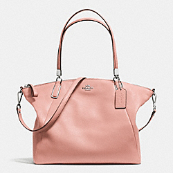 COACH F34494 Kelsey Satchel In Pebble Leather SILVER/BLUSH