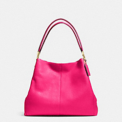 COACH F34495 - PHOEBE SHOULDER BAG IN PEBBLE LEATHER LIGHT GOLD/PINK RUBY