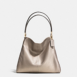 COACH PHOEBE SHOULDER BAG IN PEBBLE LEATHER - LIGHT GOLD/METALLIC - F34495