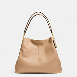 COACH F34495 - PHOEBE SHOULDER BAG IN PEBBLE LEATHER LIGHT GOLD/NUDE