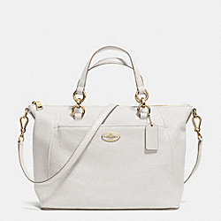 COACH F34508 - COLETTE SATCHEL IN PEBBLE LEATHER LIGHT GOLD/CHALK