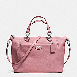 COACH F34508 - COLETTE SATCHEL IN PEBBLE LEATHER  SILVER/SHADOW ROSE