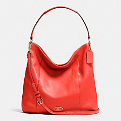 COACH F34511 Isabelle Shoulder Bag In Pebble Leather LIGHT GOLD/CARDINAL