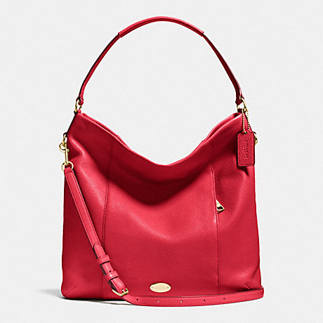COACH F34511 SHOULDER BAG IN PEBBLE LEATHER IMITATION-GOLD/CLASSIC-RED