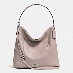 COACH F34511 Shoulder Bag In Pebble Leather SILVER/GREY BIRCH