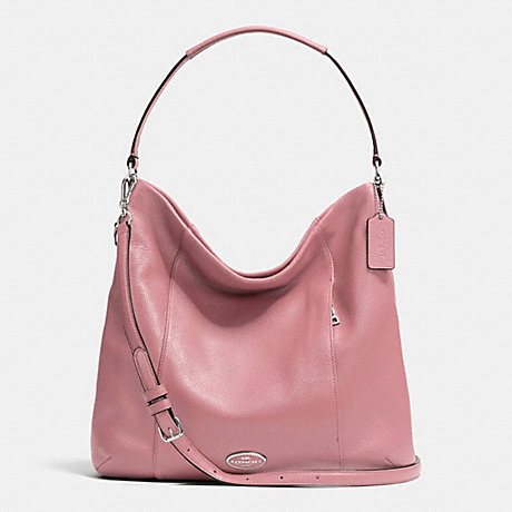 COACH F34511 - SHOULDER BAG IN PEBBLE LEATHER - SILVER/SHADOW ROSE ...