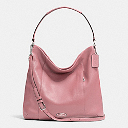 COACH F34511 - SHOULDER BAG IN PEBBLE LEATHER SILVER/SHADOW ROSE