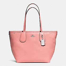 COACH F34522 - COACH TAXI BABY BAG TOTE IN CROSSGRAIN LEATHER SILVER/PINK