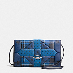 DOWNTOWN CLUTCH IN PRINTED PATCHWORK LEATHER - f34525 - SVDPZ