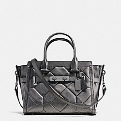 COACH F34547 Coach Swagger 27 Carryall In Metallic Patchwork Leather ANTIQUE NICKEL/GUNMETAL