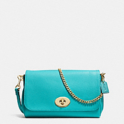 COACH F34604 - MINI RUBY CROSSBODY IN LEATHER  LIGHT GOLD/CADET BLUE
