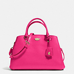COACH F34607 Small Margot Carryall In Leather  LIGHT GOLD/PINK RUBY