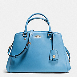 COACH F34607 - SMALL MARGOT CARRYALL IN LEATHER IMITATION GOLD/BLUEJAY