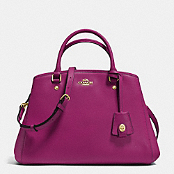 COACH F34607 Small Margot Carryall In Leather IMITATION GOLD/FUCHSIA