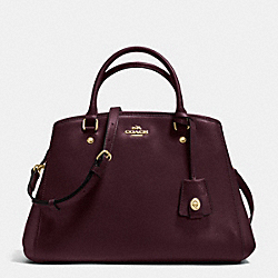 COACH F34607 - SMALL MARGOT CARRYALL IN LEATHER IMITATION OXBLOOD