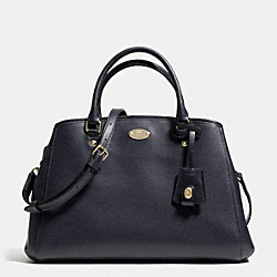 COACH F34607 - SMALL MARGOT CARRYALL IN LEATHER  LIGHT GOLD/MIDNIGHT