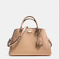 COACH F34607 - SMALL MARGOT CARRYALL IN LEATHER  LIGHT GOLD/NUDE