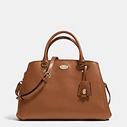 COACH F34607 - SMALL MARGOT CARRYALL IN LEATHER  LIGHT GOLD/SADDLE