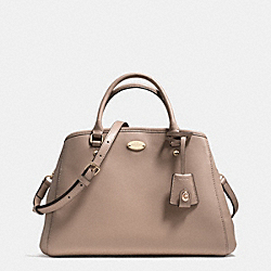 COACH F34607 - SMALL MARGOT CARRYALL IN LEATHER LIGHT GOLD/STONE