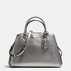 COACH F34607 - SMALL MARGOT CARRYALL IN LEATHER  SILVER/PEWTER