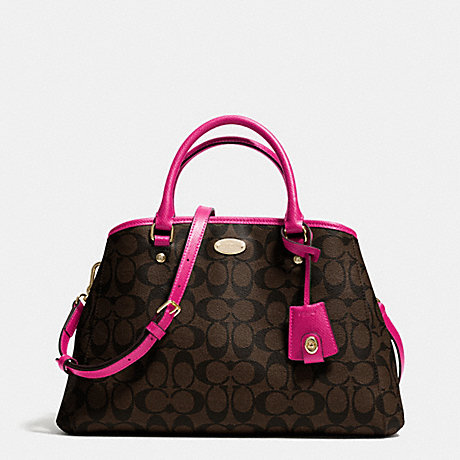COACH F34608 SMALL MARGOT CARRYALL IN SIGNATURE IME9T