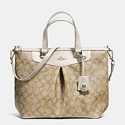 COACH F34614 - PLEAT TOTE IN SIGNATURE CANVAS LIGHT GOLD/LIGHT KHAKI/CHALK
