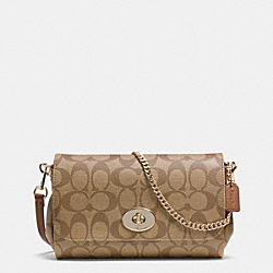 COACH F34615 - MINI RUBY CROSSBODY IN SIGNATURE CANVAS LIGHT GOLD/KHAKI/SADDLE