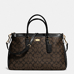 COACH F34617 - MORGAN SATCHEL IN SIGNATURE LIGHT GOLD/BROWN/BLACK
