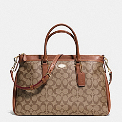 COACH F34617 Morgan Satchel In Signature LIGHT GOLD/KHAKI/SADDLE