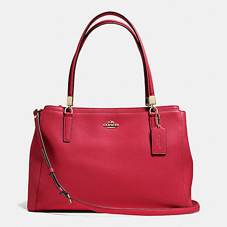 COACH F34672 CHRISTIE CARRYALL IN LEATHER IMRED