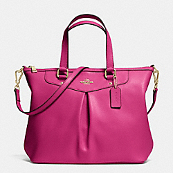COACH F34680 - PLEAT TOTE IN CROSSGRAIN LEATHER IMCBY