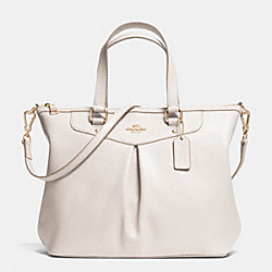 COACH F34680 - PLEAT TOTE IN CROSSGRAIN LEATHER  LIGHT GOLD/CHALK