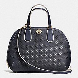 COACH F34705 Prince Street Satchel In Perforated Leather  LIBGE