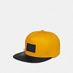 COACH F34718 Colorblock Flat Brim Hat MARIGOLD