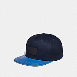 COACH F34718 Colorblock Flat Brim Hat NAVY/VINTAGE BLUE