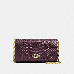 COACH F34720 - DRESSY CROSSBODY OXBLOOD 1/LIGHT GOLD