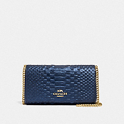 COACH F34720 - DRESSY CROSSBODY METALLIC DENIM/LIGHT GOLD