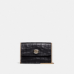 BOWERY CROSSBODY - F34727 - BLACK/LIGHT GOLD