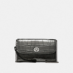 CHAIN CROSSBODY - F34730 - GUNMETAL/SILVER