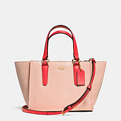 COACH F34731 Mini Crosby Carryall In Two Tone Colorblock Leather  LIDTI