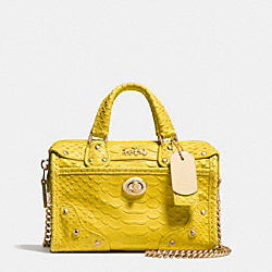 COACH F34743 - RHYDER SATCHEL 18 IN PYTHON EMBOSSED LEATHER LIYLW
