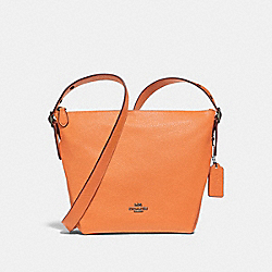 COACH F34767 Danny Duffle ORANGE/BLACK ANTIQUE NICKEL